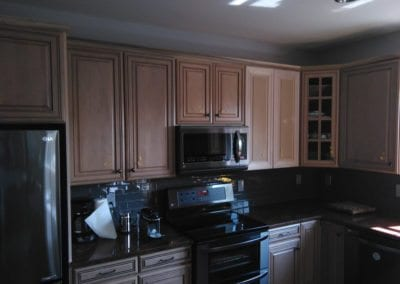 An Image of Finished Kitchen Cabinets