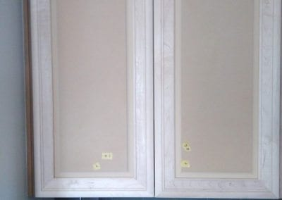 An image of refinished kitchen cabinet doors