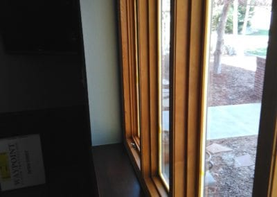 Window Frame to be Matched to Surrounding Cabinets & Trim