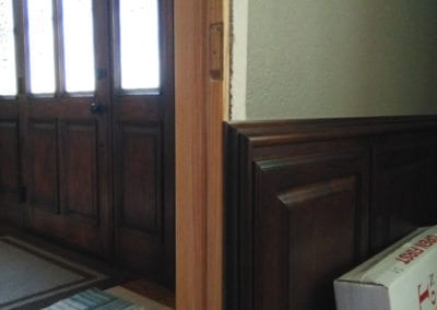 Door Frame to be Matched to Surrounding Cabinets & Trim