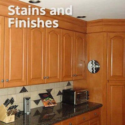 An image of Kitchen Cabinets depicting a Stains and Finishes Service